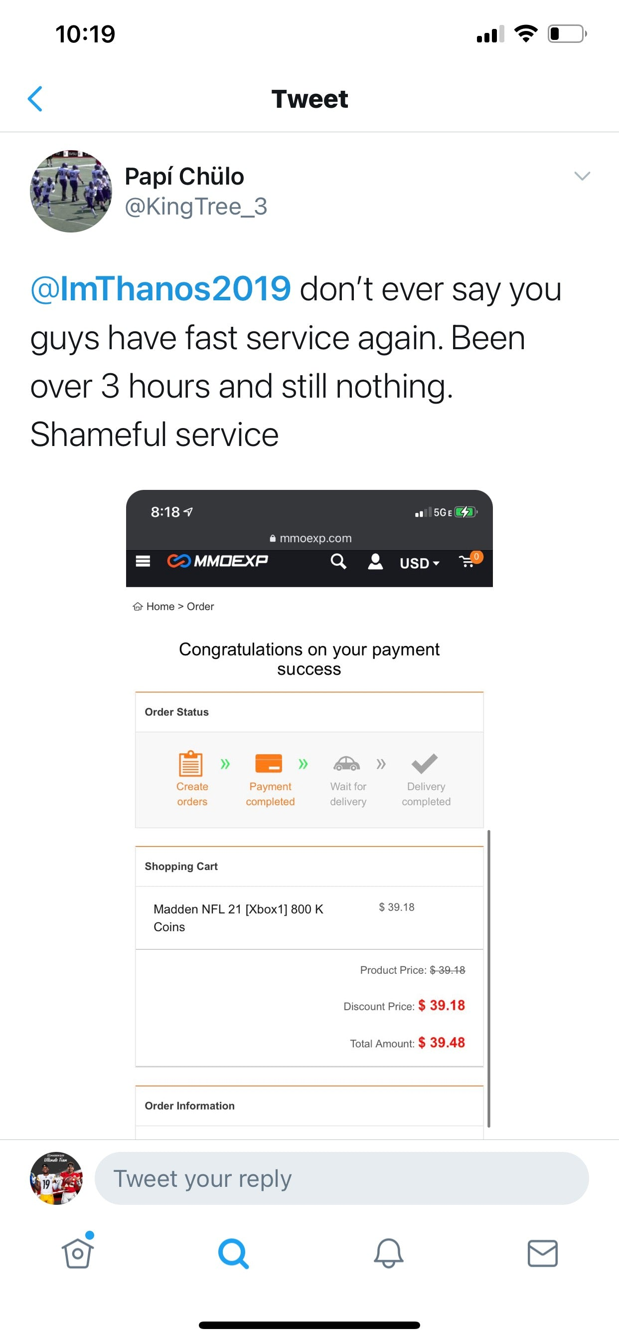 mmoexp scomo fraud mut coins scam