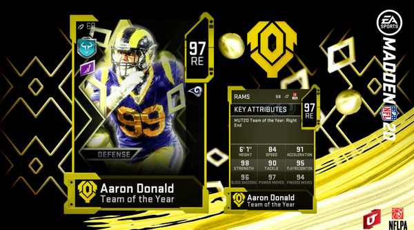 team of the year madden mut 20