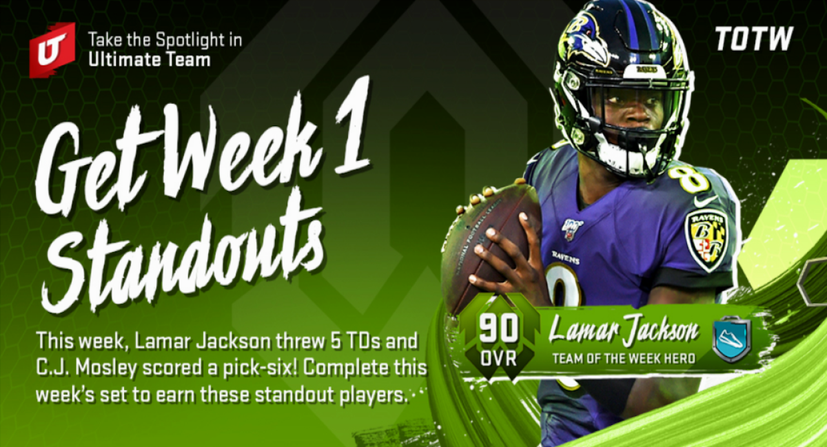 madden team of the week mut 20