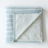 Aqua Thick Stripe Towel