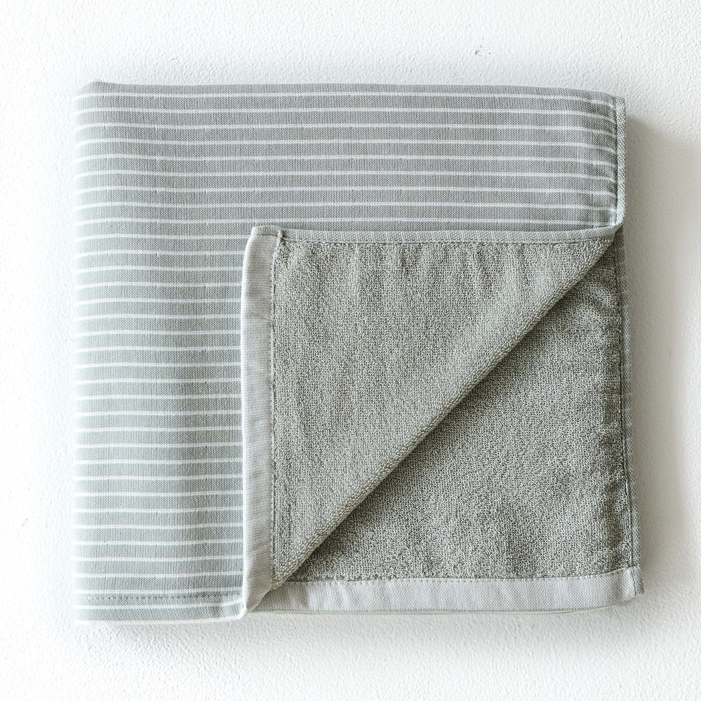 Olive Thin Stripe Towel