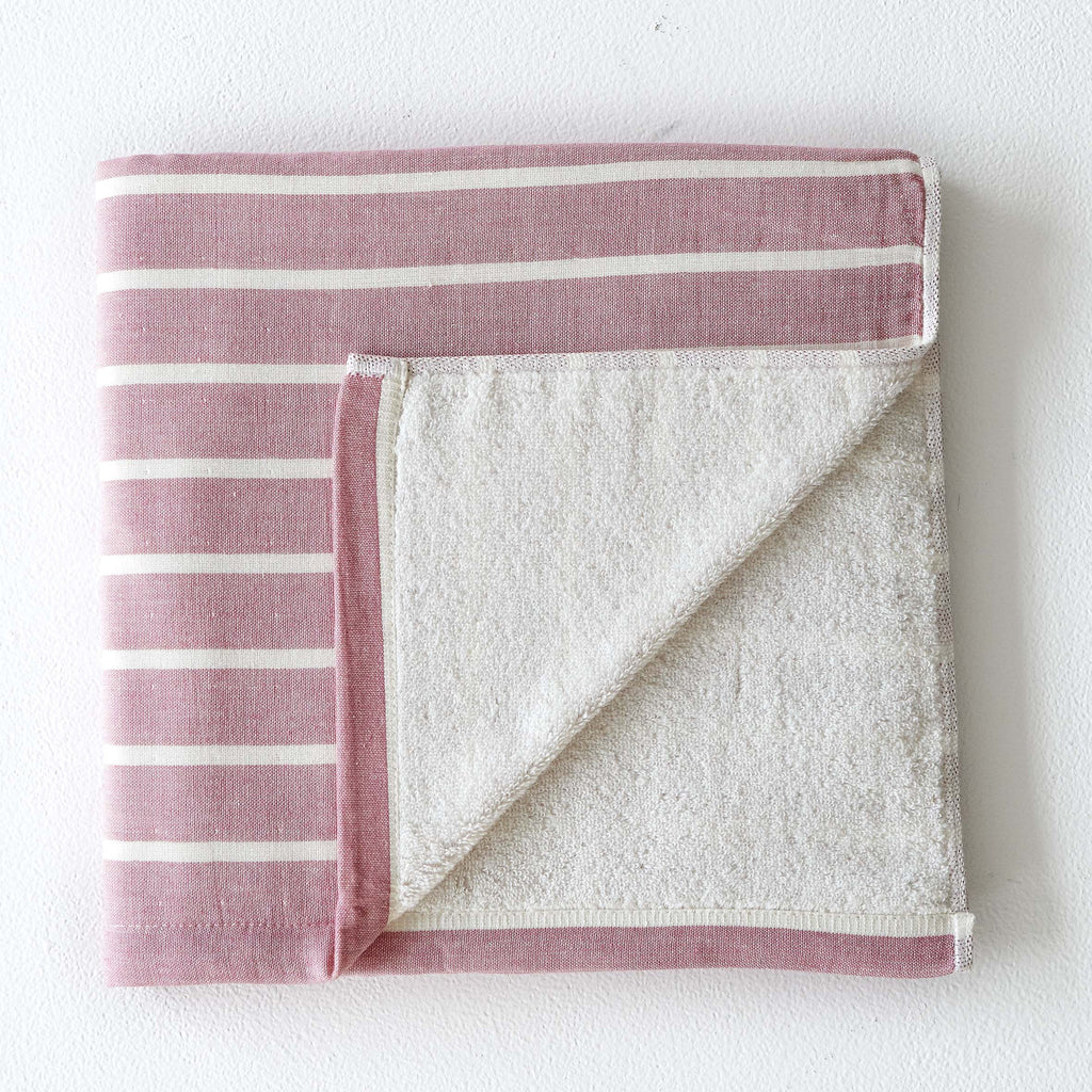 Rose Thick Stripe Towel