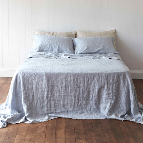 Vintage Denim Blue Quilt Cover