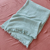 Hamptons Mint Cotton Throw