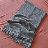 Hamptons Grey Cotton Throw