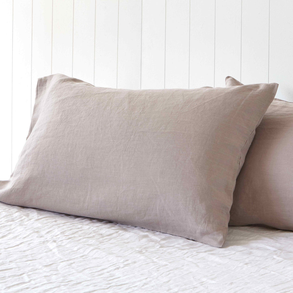 Misty Harbour Grey Pillowcases