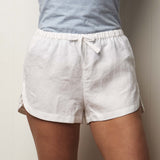 Milkcloud White Linen Shorts