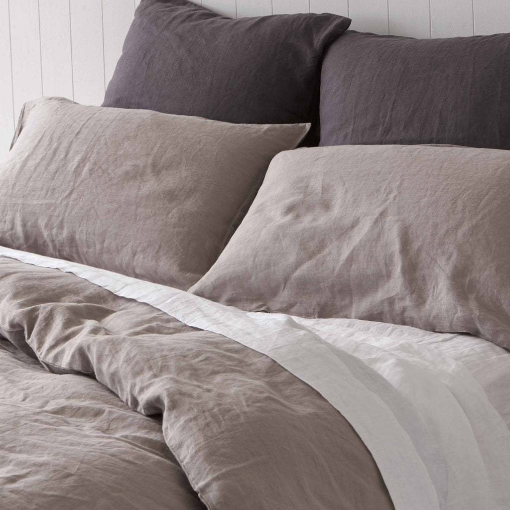 Misty Harbour Grey Quilt Cover