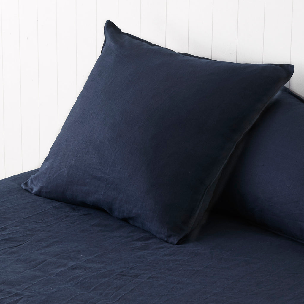 Classic Navy European Pillowcases