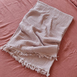 Hamptons Dusty Pink Cotton Throw