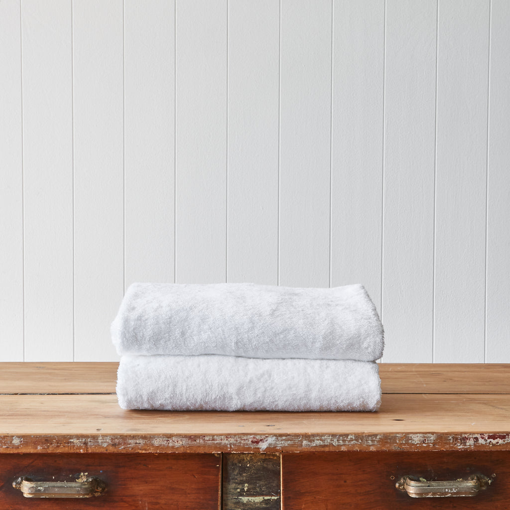 Plush White Bath Towels