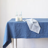 Vintage Denim Blue Table Cloth