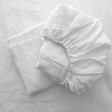 Milkcloud White Baby Sheet Set