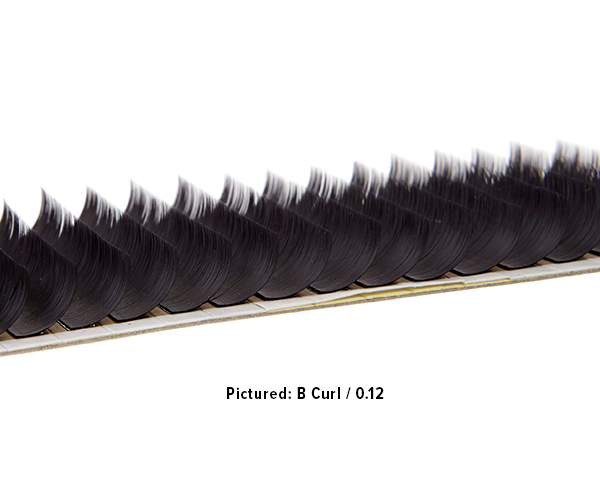 B Curl 0.05mm Single Tray – 12mm
