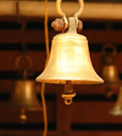 Bells in a Hindu temple
