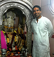Mayank Goyal in Brahma temple, Pushkar