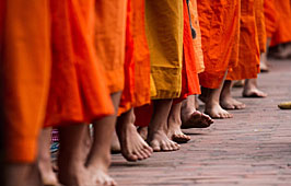 Going barefoot to temples
