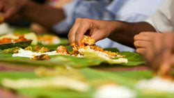 Why do Hindus eat food with hands