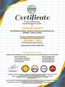 ISO certificate for Puja Services
