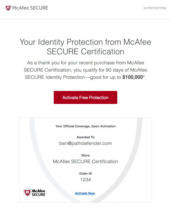 McAfee Identity Protection Service