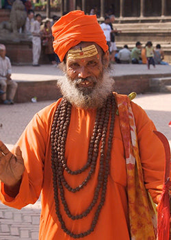 Saints in Hinduism wear saffron