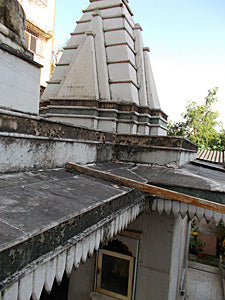 Upper structure of temple
