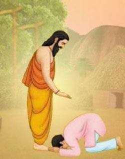 Why Hindus touch elders feet