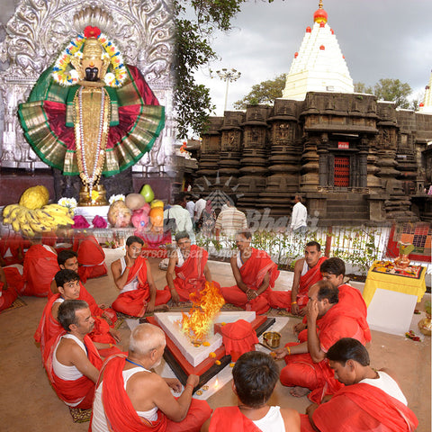 Mahalakshmi temple puja at Kolhapur