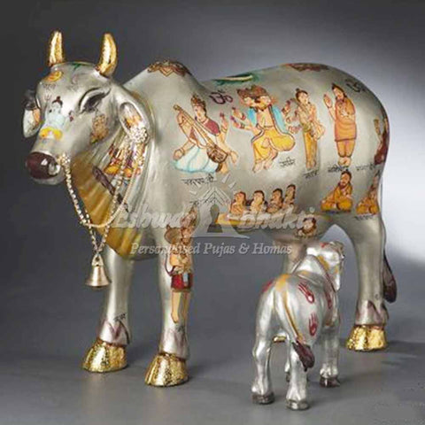 Gift Gold and silver Cows