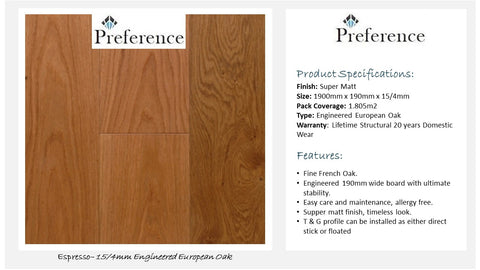 15mm/4mm Engineered Timber - Espresso