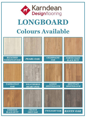 Karndean LooseLay Long Board - North Coast Black Butt - Wood Look Planks - Price per square metre - $63.90