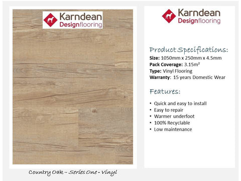 Vinyl Flooring - Country Oak