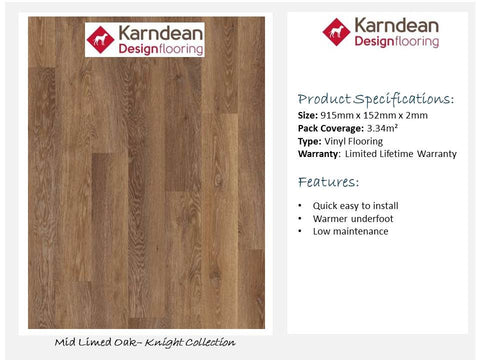 Vinyl Flooring - Mid Limed Oak