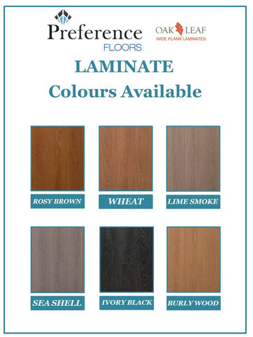 Preference Oakleaf Collection - Wheat - 12mm Laminate - Price per square metre - $31.90