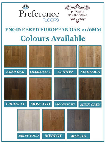 Preference - Moonlight - 21mm/6mm Engineered European Oak - Price per square metre - $102.00