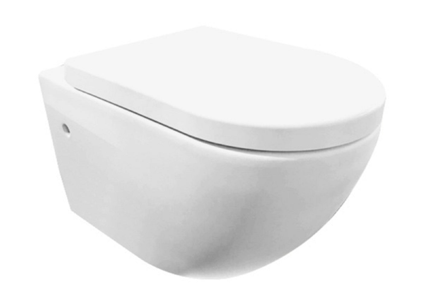 'Molina' Gloss white deep flush toilet bowl