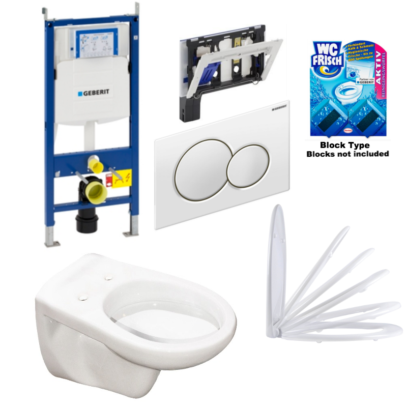 Geberit Deluxe One-Pack Complete Toilet Set 'Compact'