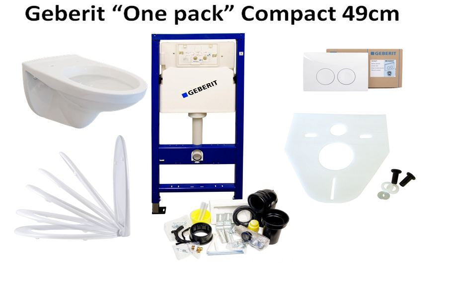 Compact Toilet Complete One Pack Set