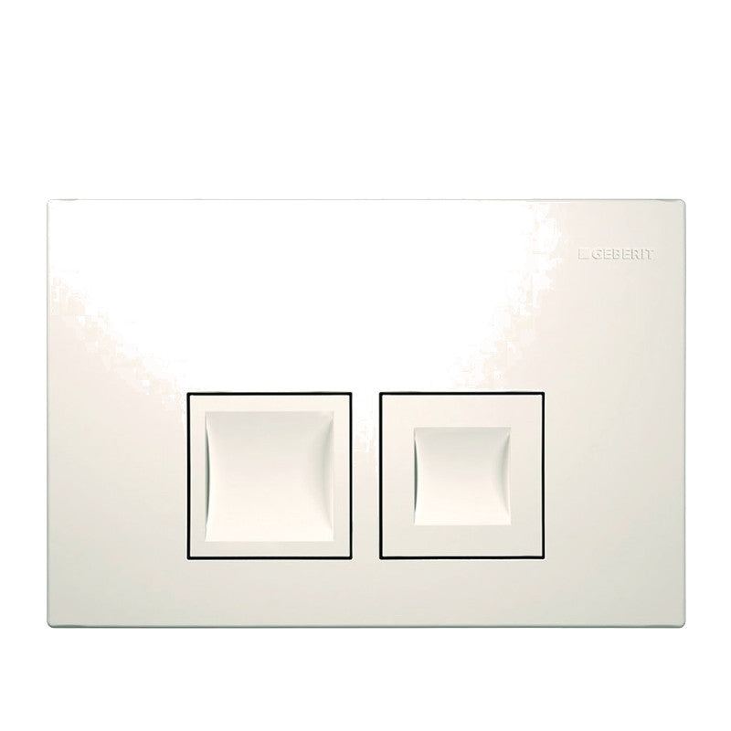 Geberit Delta 50 Flush Actuator Plate Gloss White