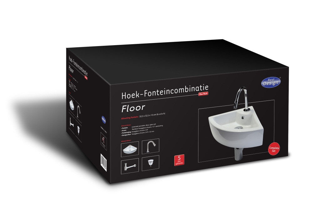 Ceramic sink Fountain One Pack 'Floor' box