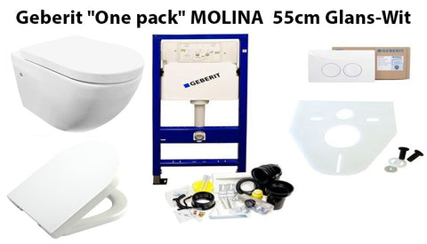 Gerberit One-Pack Comptete Toilet Set 'Molina'