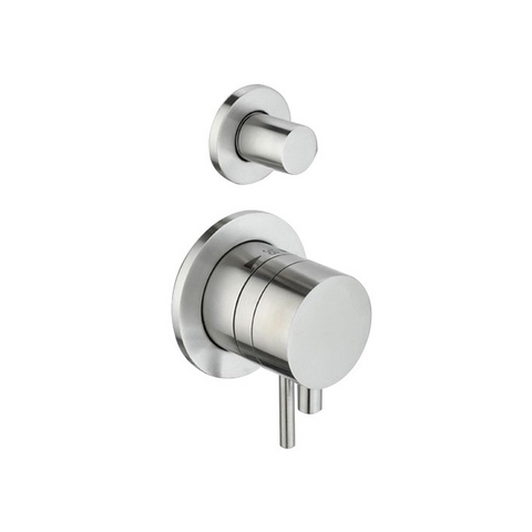 'Ore Pull & Push' 2-way Stainless Steel Thermostatic Built-in Wall Tap