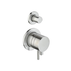 'Ore Pull & Push' SS built-in thermostatic 2 way wall tap