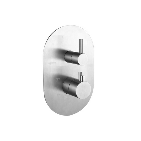 'Ore 3-Way Thermostatic' Stainless Steel Built-in Wall Tap