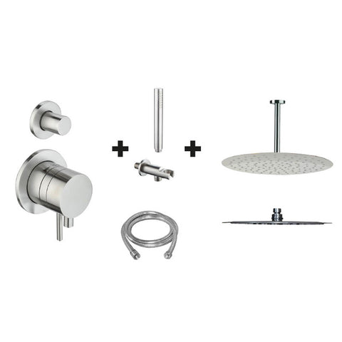 Ore One Pack Stainless Steel 2-way Rainshower set (ceiling mount)