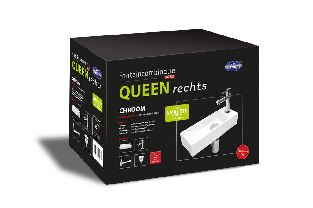 Ceramic sink Fountain One Pack 'Queen Right'