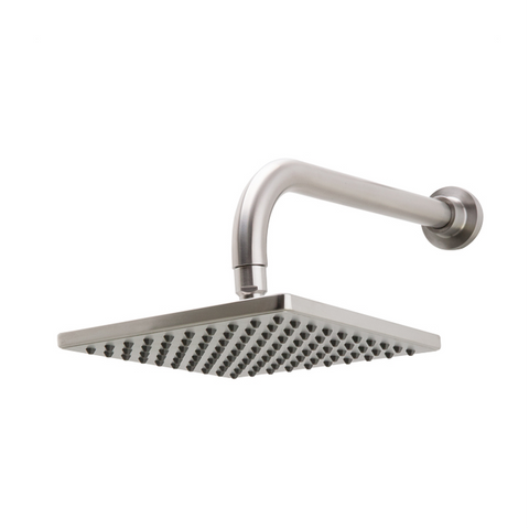 Sento Stainless Square Rain Shower Head with wall pipe