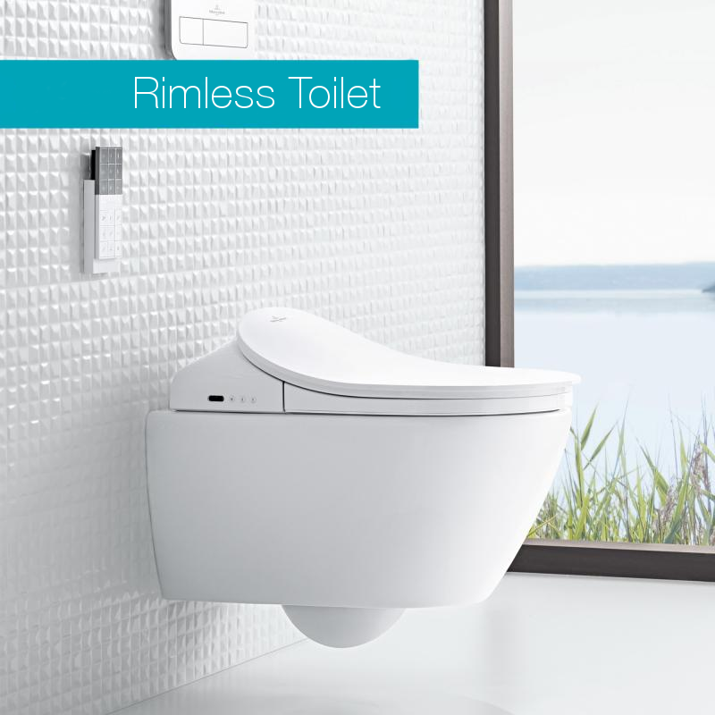 Villeroy & Boch Subway 2.0 | ViClean Shower Toilet