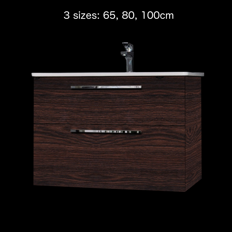 Winner vanity and sink Oak Dark Brown 65 cm