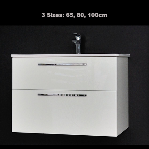 'Winner' Vanity and Sink - Gloss White